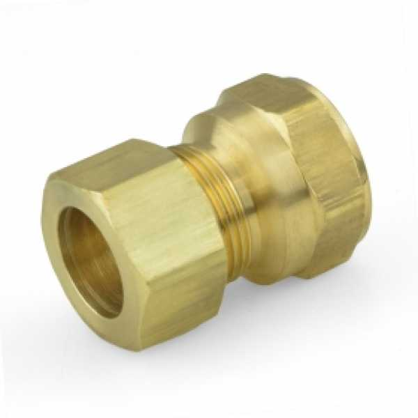 """5/8"""" OD x 1/2"""" FIP Threaded Compression Adapter, Lead-Free"""