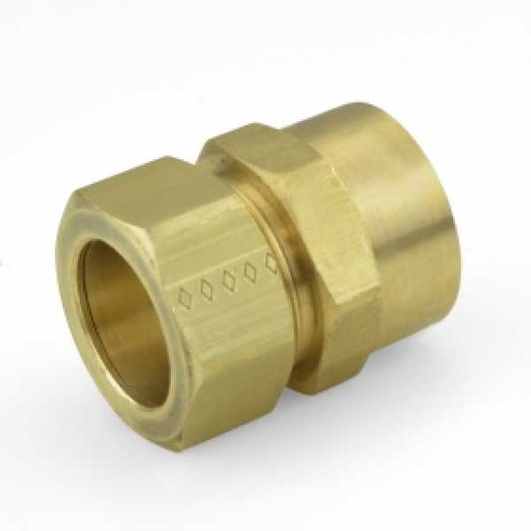 """7/8"""" OD x 3/4"""" FIP Threaded Compression Adapter, Lead-Free"""