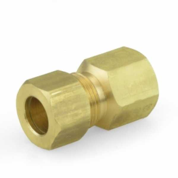"3/8"" OD x 1/4"" FIP Threaded Compression Adapter, Lead-Free"