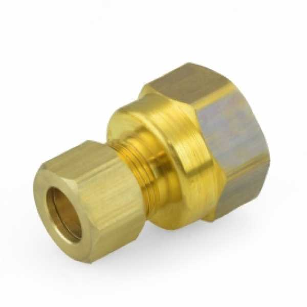 "3/8"" OD x 1/2"" FIP Threaded Compression Adapter, Lead-Free"