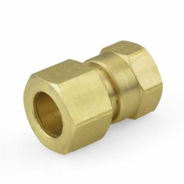 """1/2"""" OD x 3/8"""" FIP Threaded Compression Adapter, Lead-Free"""