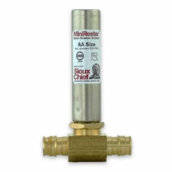 """1/2"""" PEX-A (F1960) Tee, Mini-Rester Water Hammer Arrestor (Lead-Free)"""