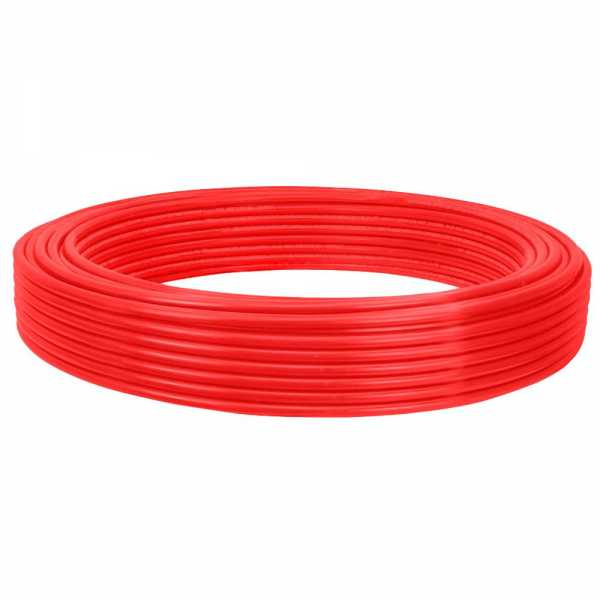 "1/2"" x 100ft PowerPEX Non-Barrier PEX-B Tubing, Red (Expandable, F1960 compliant)"