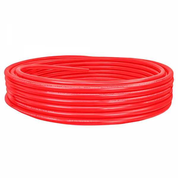 """1"""" x 100ft PowerPEX Non-Barrier PEX-B Tubing, Red (Expandable, F1960 compliant)"""