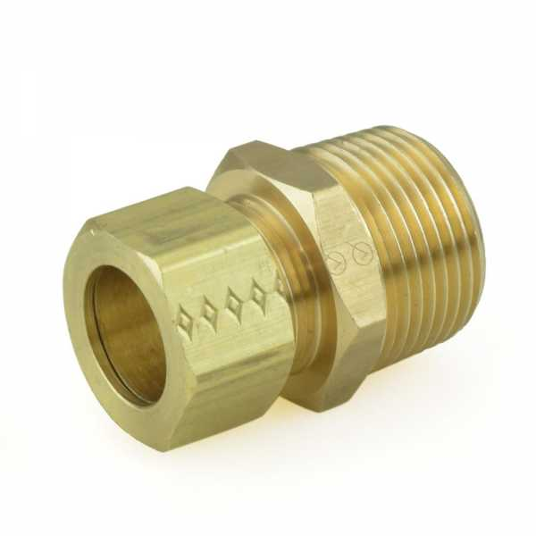 "5/8"" OD x 3/4"" MIP Threaded Compression Adapter, Lead-Free"