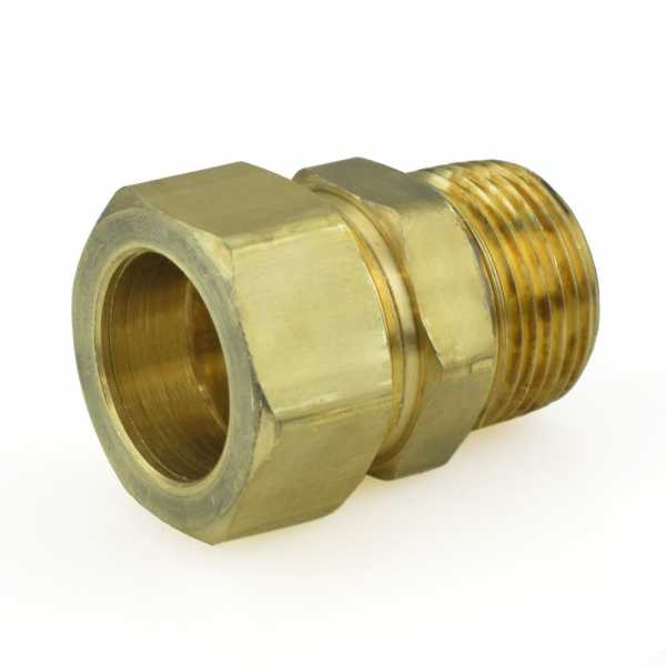 "7/8"" OD x 3/4"" MIP Threaded Compression Adapter, Lead-Free"