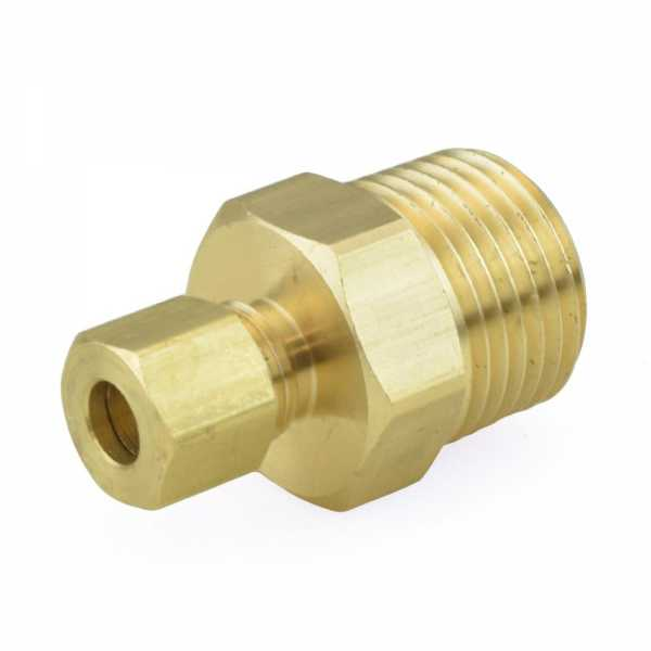 "1/4"" OD x 1/2"" MIP Threaded Compression Adapter, Lead-Free"