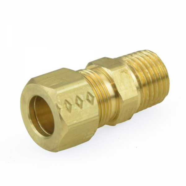"""3/8"""" OD x 1/4"""" MIP Threaded Compression Adapter, Lead-Free"""