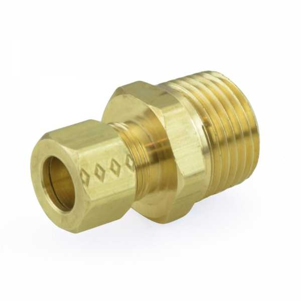 """3/8"""" OD x 1/2"""" MIP Threaded Compression Adapter, Lead-Free"""