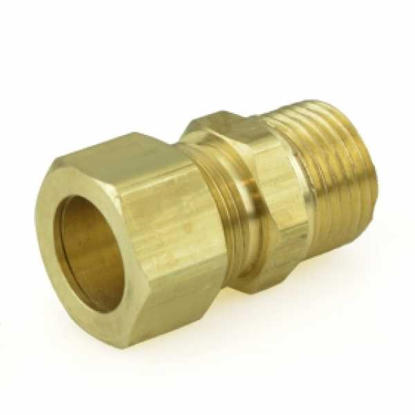 "5/8"" OD x 1/2"" MIP Threaded Compression Adapter, Lead-Free"