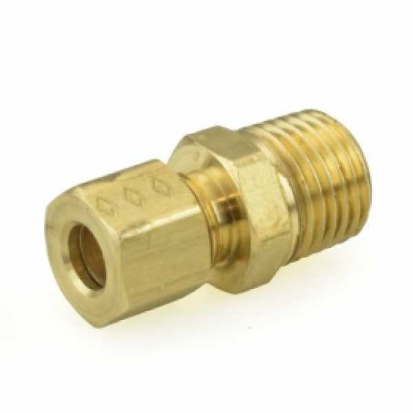 "1/4"" OD x 1/4"" MIP Threaded Compression Adapter, Lead-Free"