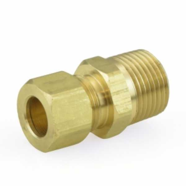 "3/8"" OD x 3/8"" MIP Threaded Compression Adapter, Lead-Free"
