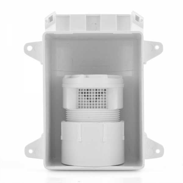 "Ox Box with TurboVent Air Admittance Valve, incl. 2"" combo adapter"