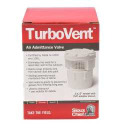 """Ox Box with TurboVent Air Admittance Valve, incl. 2"""" combo adapter"""