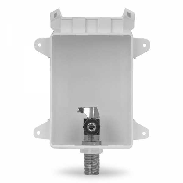 "Ox Box Icemaker Outlet Box, 1/2"" MPT/Sweat (Lead-Free)"
