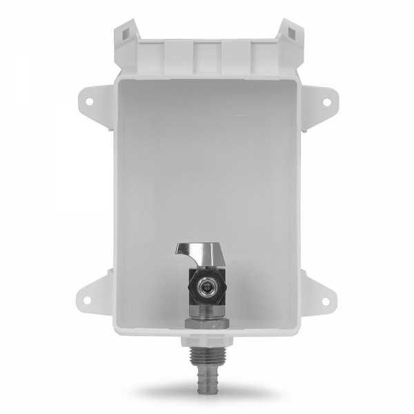 "Ox Box Icemaker Outlet Box, 1/2"" PEX (Lead-Free)"