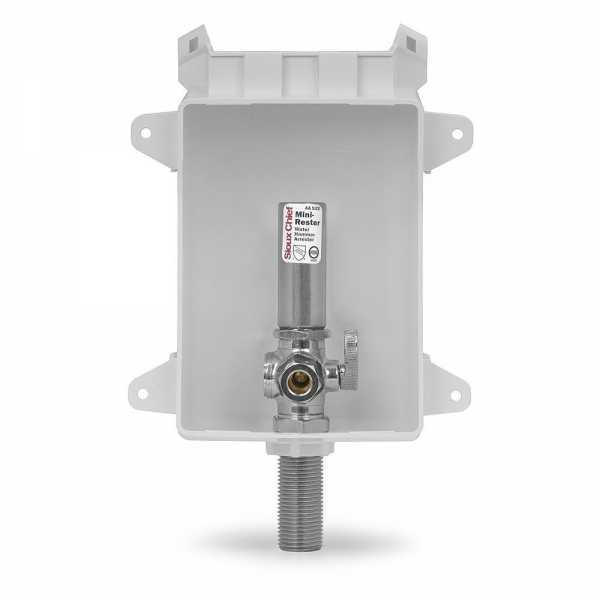 "Ox Box Toilet/Dishwasher Outlet Box w/ Water Hammer Arrestor, 1/2"" MPT/Sweat (Lead-Free)"