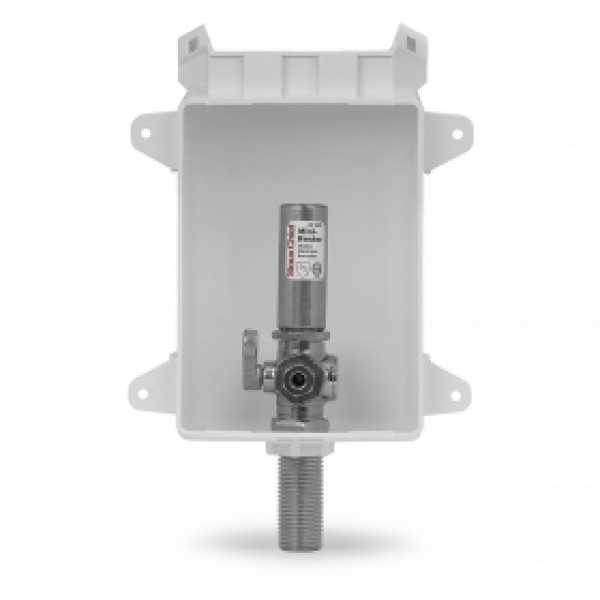 """Ox Box Icemaker Outlet Box w/ Water Hammer Arrestor, 1/2"""" MPT/Sweat (Lead-Free)"""