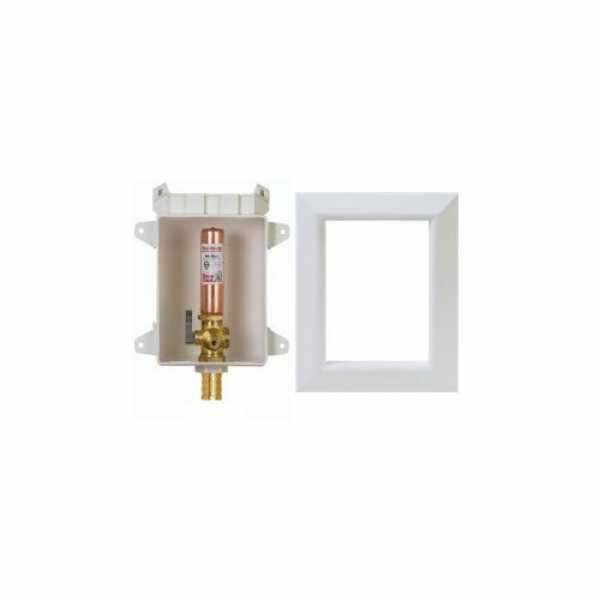"Sioux Chief 696-G1010XF Ox Box Ice Maker Outlet Box w/ Water Hammer Arrestor - 1/2"" PEX Crimp Connection (Lead Free)"