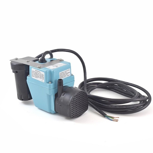 """Little Giant 551030 1/40 Hp Shallow Pan Float Switch Condensate Removal Pump, 9"""" Cord, 208v ~ 240v"""