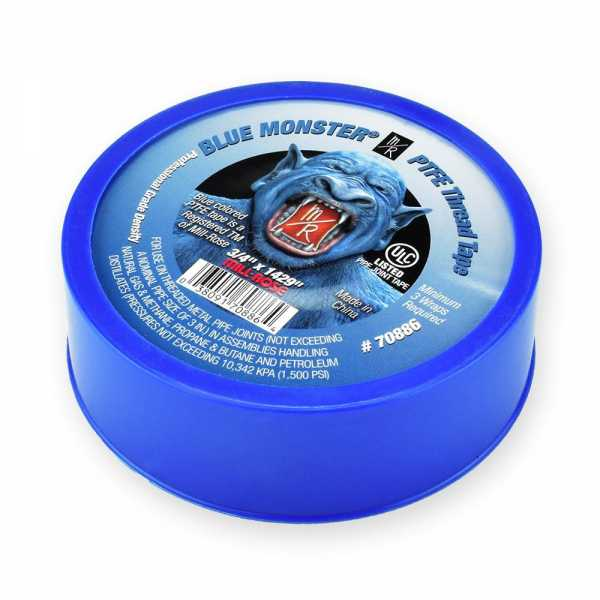 "Blue Monster PTFE Thread Seal Tape, 3/4"" x 1429"""