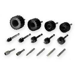 """Power Brush Tool Kit for 3/8"""", 1/2"""", 3/4"""", 1"""""""