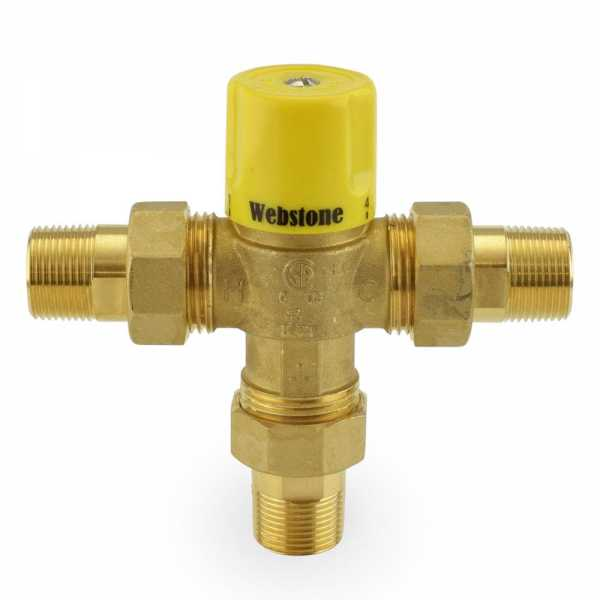 "3/4"" Union Male Threaded Mixing Valve, Lead-Free (95F – 131F)"