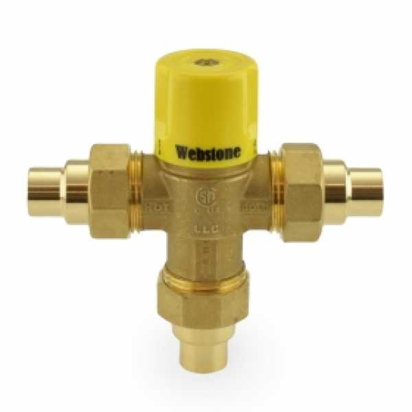 "1/2"" Union Sweat Mixing Valve, Lead-Free (95F – 131F)"