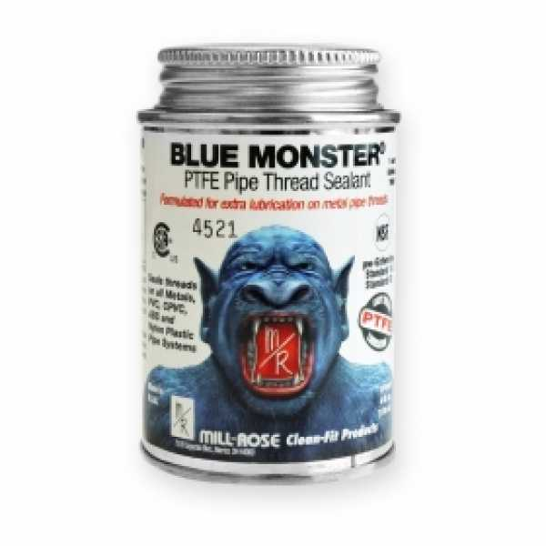 Blue Monster Industrial Grade PTFE Thread Sealant, 4 oz (1/4 pint)