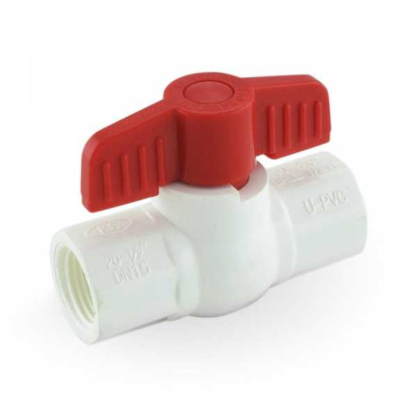 "1/2"" PVC Ball Valve, FPT Threaded, Sch. 40/80"