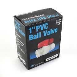 "1"" PVC Ball Valve, FPT Threaded, Sch. 40/80"