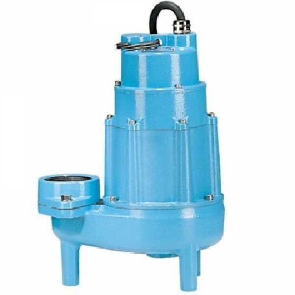 "Little Giant 520175 3"" Fnpt Discharge, 2"" Solids Manual Heavy Duty Sewage Pump, 20"" Cord, 440v ~ 480v"