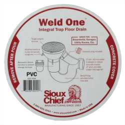 "Sioux Chief 800-PBW 2"" PVC WeldOne Floor Drain with Backwater device"