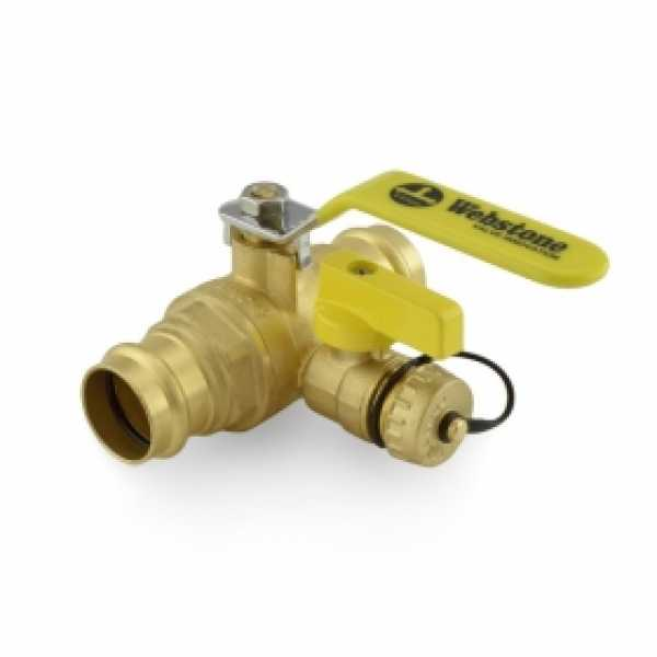 "1"" Press Pro-Pal Ball Drain Valve, Lead-Free"