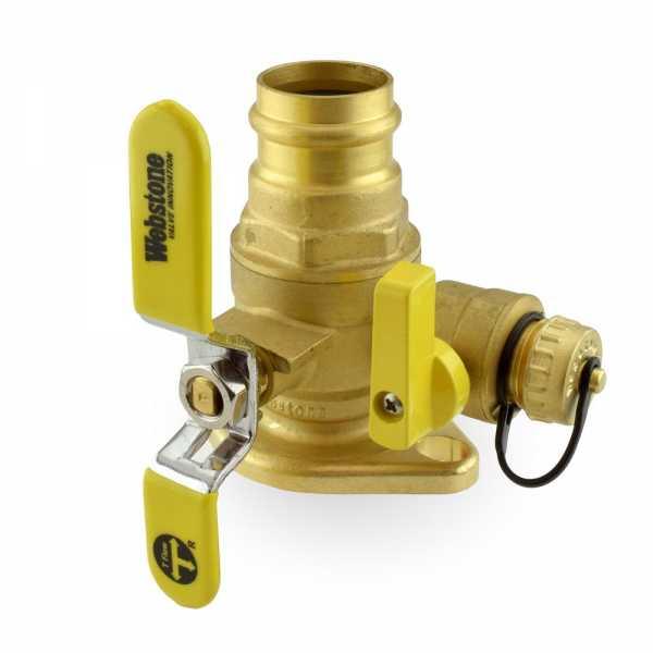 "1-1/4"" Press Isolator Flange Valve w/ Drain & Rotating Flange"