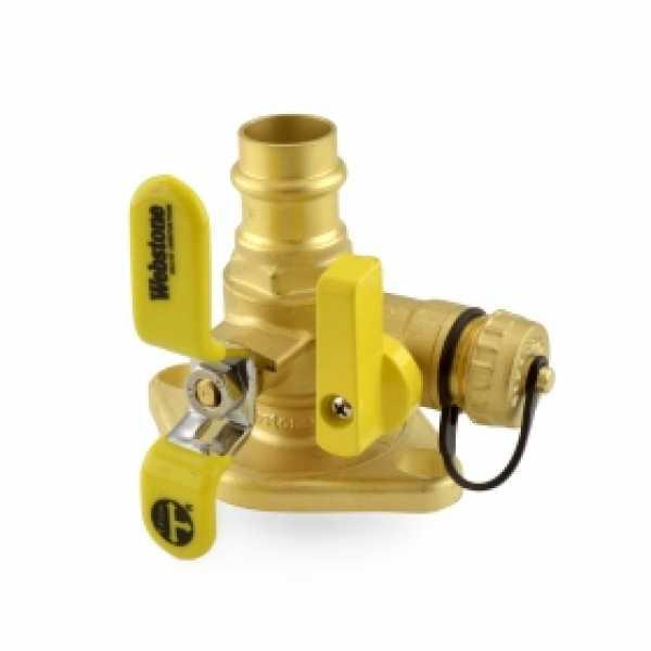 "3/4"" Press Isolator Flange Valve w/ Drain & Rotating Flange"