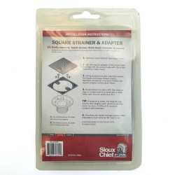 Round-To-Square Adapter for 821-T200(P) Drain w/ Snap-in Oil Rubbed Bronze Strainer