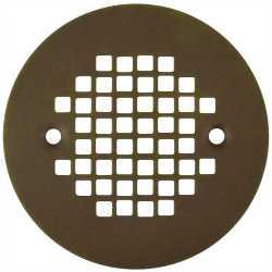 "4-1/4"" Oil Rubbed Bronze Screw-on Shower Drain Strainer w/ Screws"