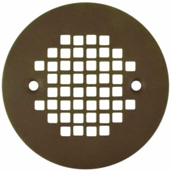 "4-1/4"" Oil Rubbed Bronze Screw-on Shower Drain Strainer w/ Screws"