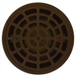 """Round Tile-in PVC Shower Pan Drain w/ Screw-on Oil Rubbed Bronze Strainer & Ring, 2"""" Hub x 3"""" Inside Fit"""