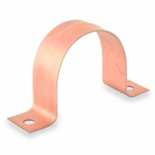 "1-1/2"" Copper Plated Pipe Strap"