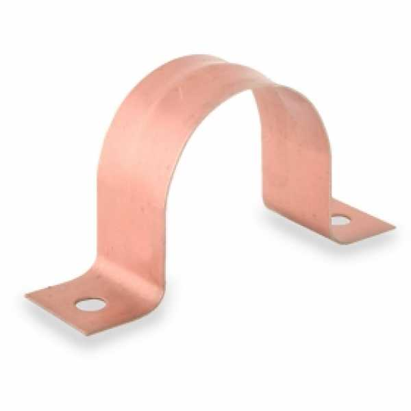 "1-1/4"" Copper Plated Pipe Strap"