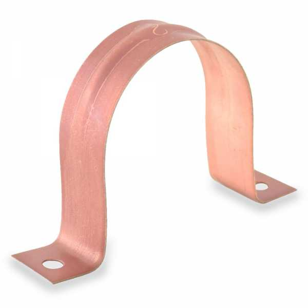 "2"" Copper Plated Pipe Strap"