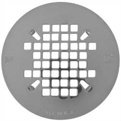"""4-1/4"""" Polished Steel (Chrome) Snap-in Shower Drain Strainer"""