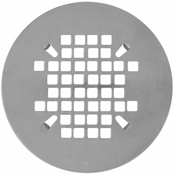 "4-1/4"" Satin Nickel Snap-in Shower Drain Strainer"