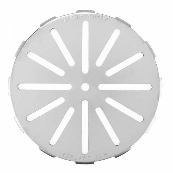 "Replace-It 7"" Adjustable Floor Drain Strainer for 3-1/4"" - 6-3/4"" Openings, St. Steel"