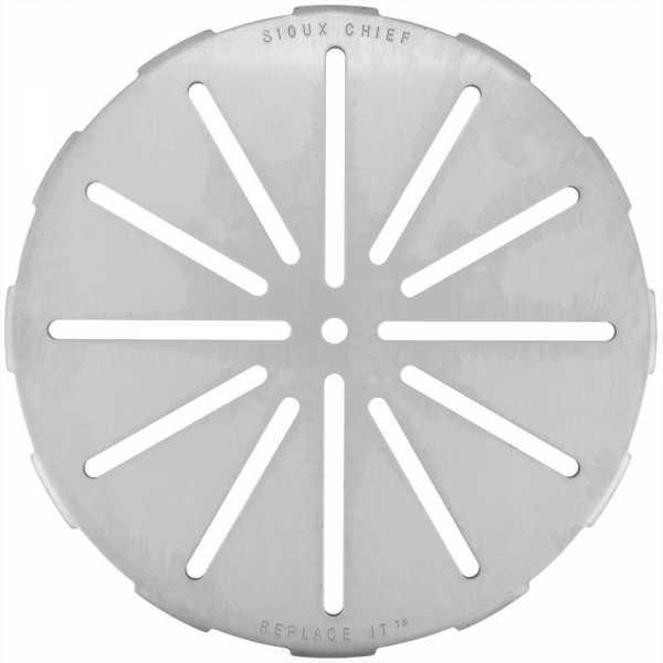 "Replace-It 9"" Adjustable Floor Drain Strainer for 5-1/4"" - 8-3/4"" Openings, St. Steel"