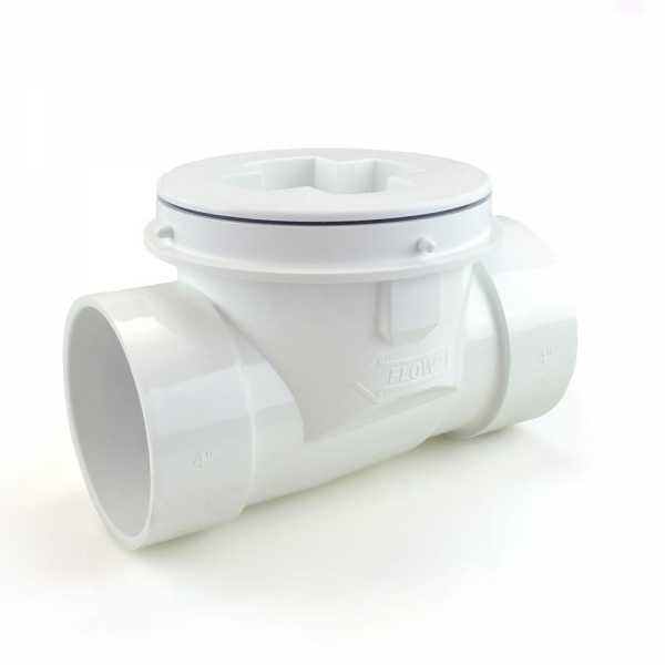 "4"" PVC ProCheck Backwater Valve w/ 16"" Shallow Access Sleeve Kit"