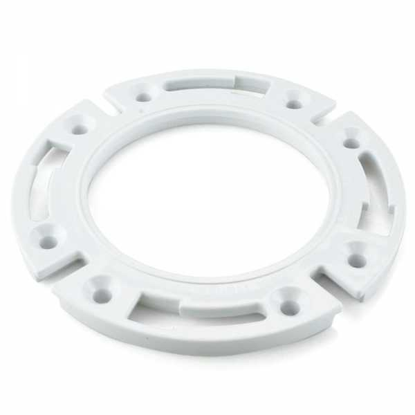 """7/16"""" PVC Closet Flange Extension Ring Kit w/ Bolts & Wedges"""