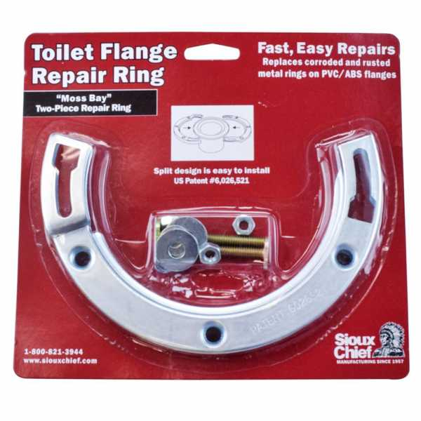 """""""Moss Bay"""" Style Steel Closet Flange Repair Ring Kit w/ Bolts"""
